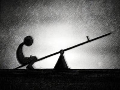 alone on the seesaw   Amazing Toyin Dawodu
